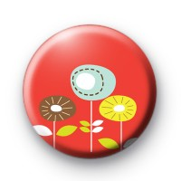 Red Flower Bed Button Badges
