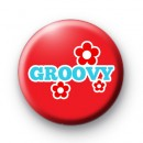 Groovy Red Button Badges