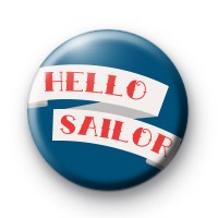 Red Hello Sailor Badge