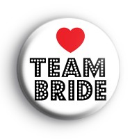 Red Love Heart TEAM BRIDE Badge