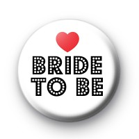 Red Love Heart Bride To Be Badge