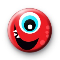 Red Monster Eye Badge