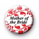 Red Floral Pattern Mother Of the Bride Badge