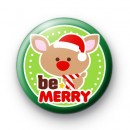Be Merry Reindeer Badge