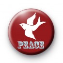 Red Peace Dove Badge