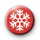 Christmas Red Snowflake Badge