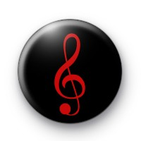 Red Treble Clef Badge