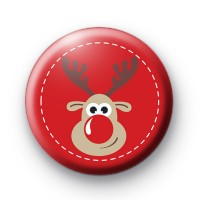 Red Festive Reindeer Christmas Badges