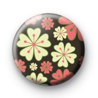 Retro Flowers Badge