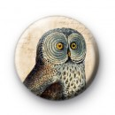 Retro Owl 1 Pin Button Badge