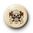 Old School Tattoo Skull Button Badges