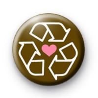 Pink heart recycle badge