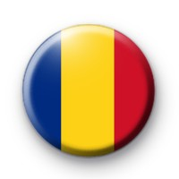 Romanian Flag Button Badge