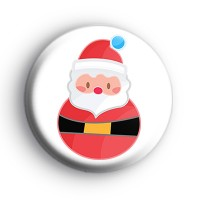 Round Father Christmas Badge