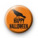 Raven Happy Halloween Badge