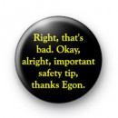 Ghostbusters safety tip badges