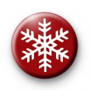 Ruby Red Festive Snowflake Badge