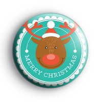 Rudolph Merry Christmas Badge thumbnail