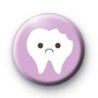 Sad Tooth Button Badges