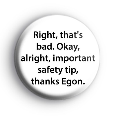 Ghostbusters Safety Tip Badge