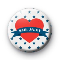 Sail Away Red Heart Badge