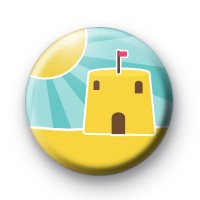 Sand Castle Button Badge