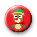 Christmas Reindeer Red Badges