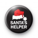 Santa's Helper Red Hat Badge