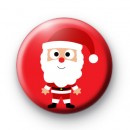 Santa Claus Red Button Badges