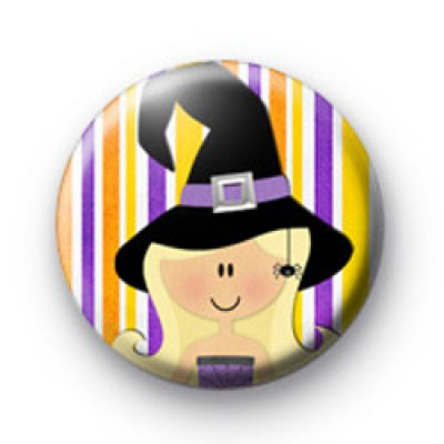 Sassy Witch Halloween Badge
