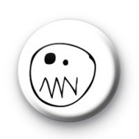Scary ghost face badges