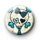 School Girl Skull Badges