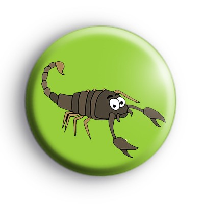 Scorpion Button Badge