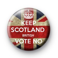 Keep Scotland British Vote No Badge