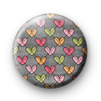 Scribble Colour Hearts Badge