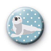 Cute Baby Seal Pup Button Badges