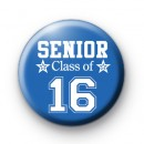Blue Senior Class of 16 Badge