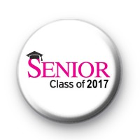 Senior Class of 2017 Button Badge