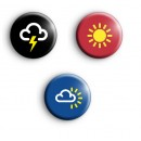 Set of 3 Weather Symbols Badges