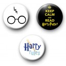Set of 3 Harry Potter Badges