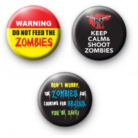 Set of 3 Zombie Badges