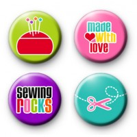 Set of 4 Crafty Sewing Badges