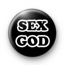 Sex God Button Badge