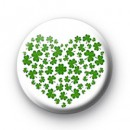 Shamrock Heart Badge