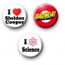 Set of 3 The Big Bang Theory Badges