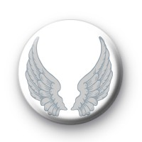 Silver Angel Wings Badge