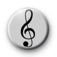 Silver Treble Clef Badges