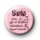 Sing definition badge