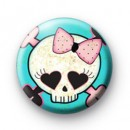 Punk Rock Skull Badge