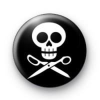 Black and White Skull Badges
